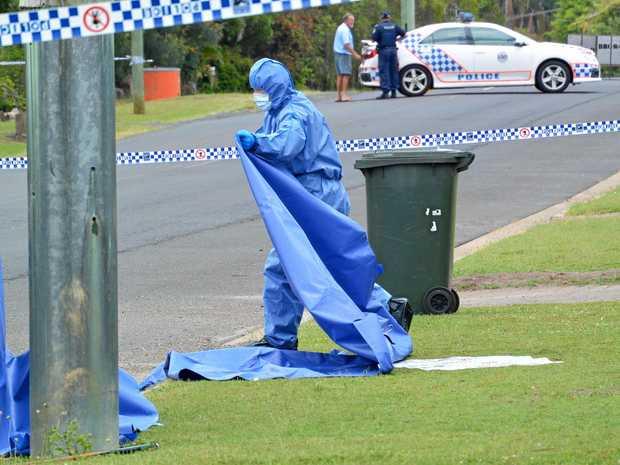 INVESTIGATION: Police investigate the scene of the stabbing death of Landon Delinecort in Avoca in 2015.