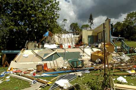 A tornado tore through Dunoon in 2007, destroying rooms at the Dunoon Public School. Photo Cathy Adams / The Northern Star