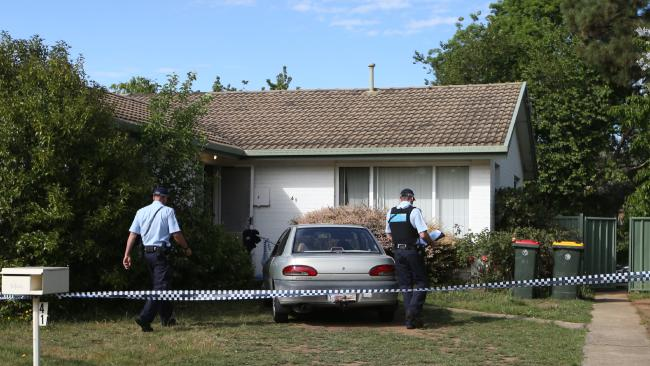The house in Canberra's north where the attacked occurred. Picture: Kym SmithSource:News Corp Australia