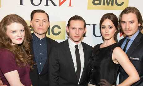 Heather Lind, second from right, with Meegan Warner, Born Gorman, Jamie Bell and Seth Numrich at the