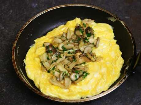 Mushroom omelet is a great source of protein.