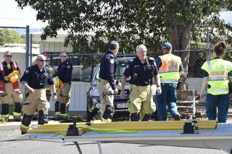 Emergency Services are currently at the Toowoomba Mail Centre, Stenner St after a suspicious package containing white powder has been found. October 2017