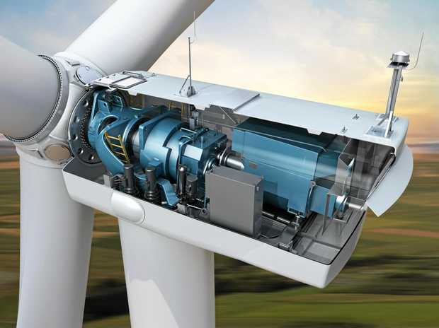 3D rendering cutaway of GE's 3.2-130 wind turbine from the 3MW Platform Turbines at Coopers Gap