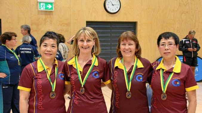 Toowoomba women's over 50 team (from left) Jan Yu, Bernadette Mitchell, Anne Louise Stewart and Hai Ann Zhang.