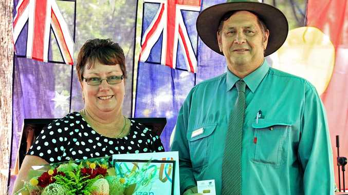 RECOGNITION: Banana Shire Citizen of the Year Donna Reynolds  with Mayor Nev Ferrier.