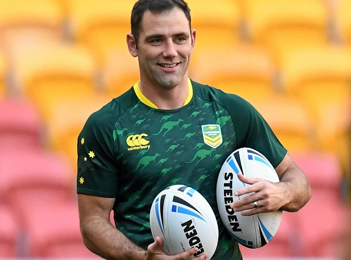 CAPTAIN: Cameron Smith is seen during training in Brisbane.