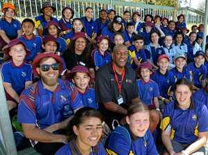 Basketball legend leaps into school work for Ipswich kids