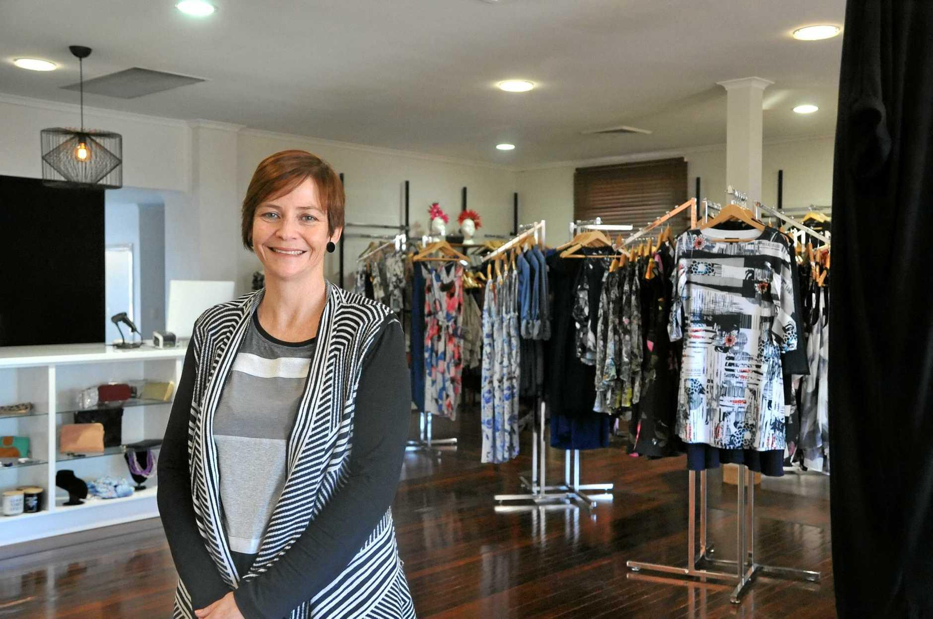SMALL BUSINESS: Tania Hempseed opened the Hidden Wardrobe in Goondoon St in April.
