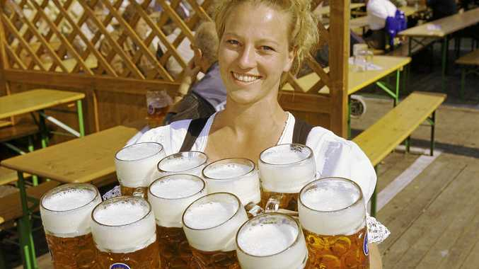 BEERS ALL 'ROUND: Oktoberfest is celebrated all over the world, including at King Ludwig's Restaurant in Maleny.