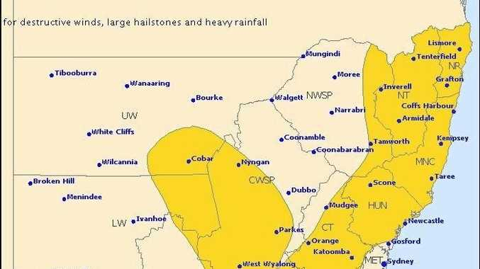 The Bureau of Meteorology has issued a severe storm warning for the Northern Rivers.