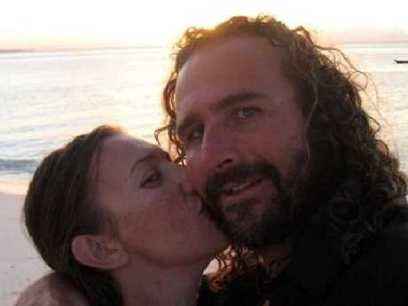 Rebecka Delforce with partner Darren Stratti. The pair were building a village where African orphans could be fed, educated and given health care in Tanzania, when Darren was shot dead by robbers in 2008.