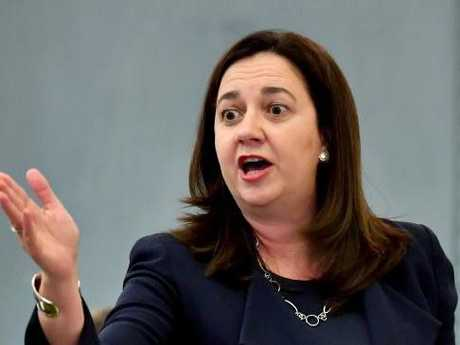Miller accused Premier Annastacia Palaszczuk of turning a blind eye to corruption. Picture: AAP Image/Darren England