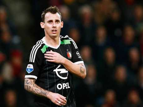 Luke Wilkshire during his time with Dutch club Feyenoord Rotterdam.