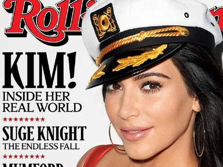 A Kim Kardashian Rolling Stone cover by Terry Richardson. Picture: Rolling Stone