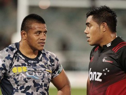 Allan Alaalatoa of the Brumbies and Mike Alaalatoa of the Crusaders won't face each other when the Wallabies meet the Barbarians.