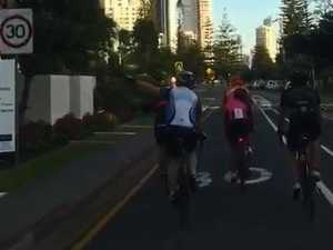 'Bunch of f**ktards': cyclists, driver clash