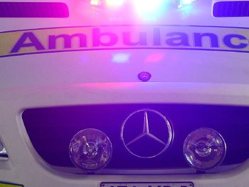 A woman has been injured falling down an embankment on the Tablelands.