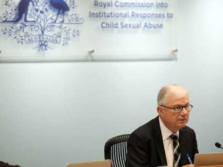 Justice Peter McClellan during the Royal Commission into Institutional Responses to Child Sexual Abuse public hearing. Picture: Jeremy Piper/Supplied