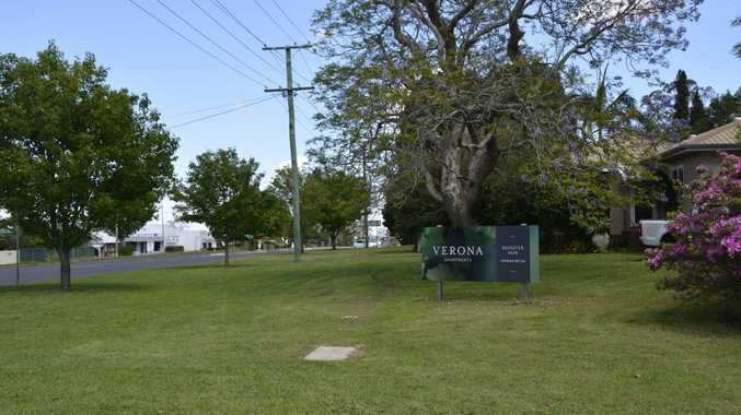 GOING UP: A sign for Verona Apartments in East Toowoomba is calling for expressions of interest for a mid-rise complex despite no plans being lodged with the Toowoomba Regional Council.