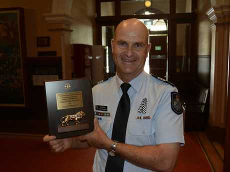 BLUE BLOOD: Darling Downs Sergeant Scott McGrath has won the 2017 Toowoomba City Lions' Emergency Services Recognition award for Excellence in Humanitarian Service.