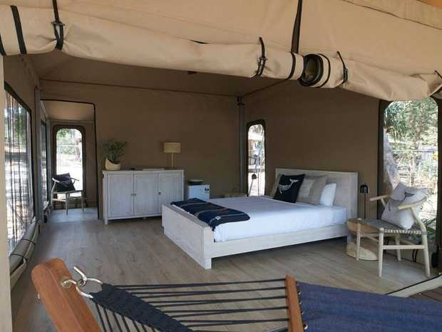 How cool is this! Book your stay at North Straddie Camping.
