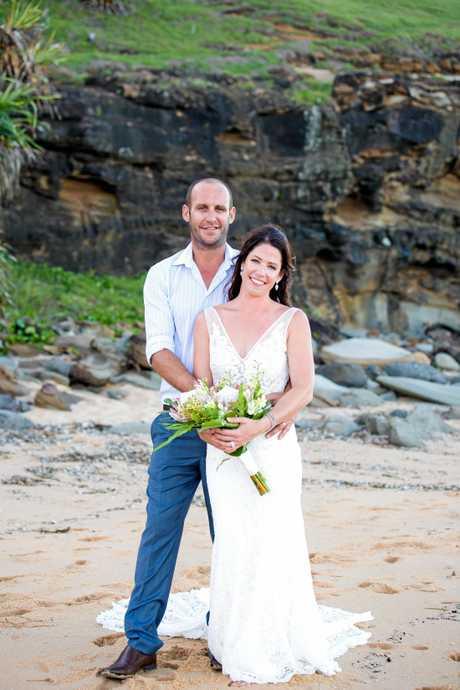 A BEACH WEDDING: Kristie Philp has wed Mark Paitry.