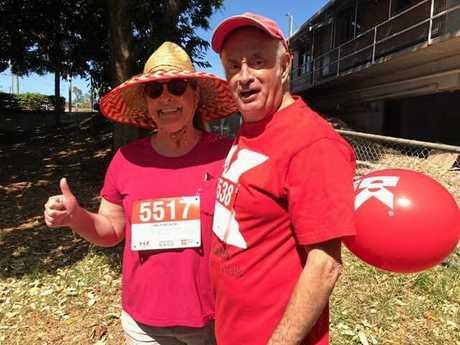 Jim Booth and Morgan's mother, Betsy Adamson at the walk.