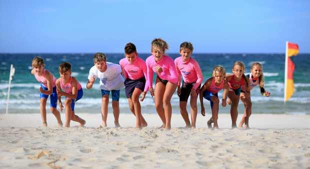 OCEAN SKILLS: Cudgen SLSC Nippers get prepared for this weekend's annual Kozii Cudgen Classic with a beach sprint.