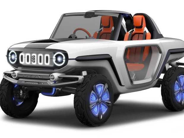 How cool is this, the Suzuki e-survivor.