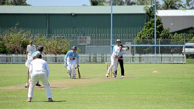 RIGHT: Casino Cavaliers fast bowler Al Nowlan fires one in during a Far North Coast LJ Hooker League match at Fripp Oval, Ballina.