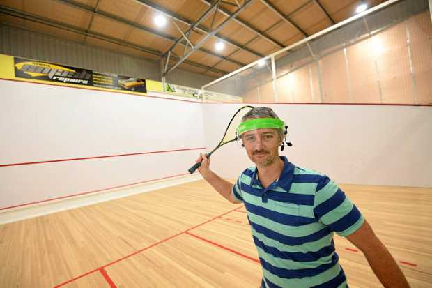 COMING SOON: Matthew Robinson, the new owner of the Victory Squash courts in Gympie.