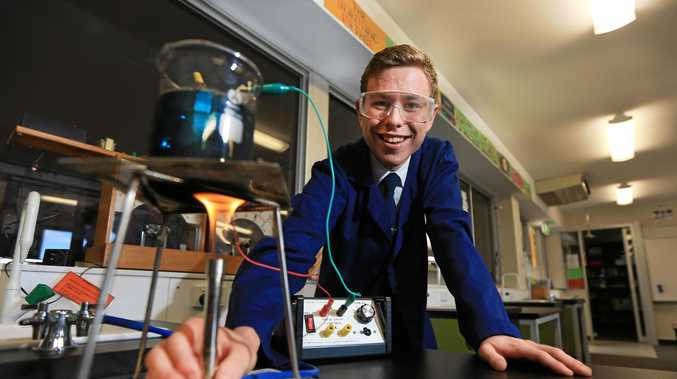 SCIENCE LAB: Mt Saint Pats College student Jesse Wright is in the running to win an international Science competition.