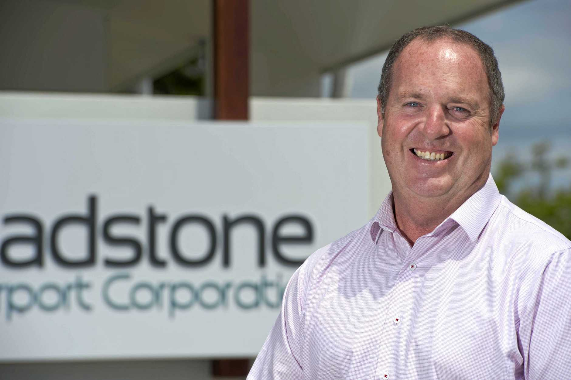 CEO of Gladstone Airport Corporation, Peter Friel at his office.
