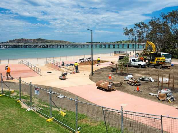 TAKING SHAPE: Workers put the finishing touches on the Jetty4Shores upgrade.