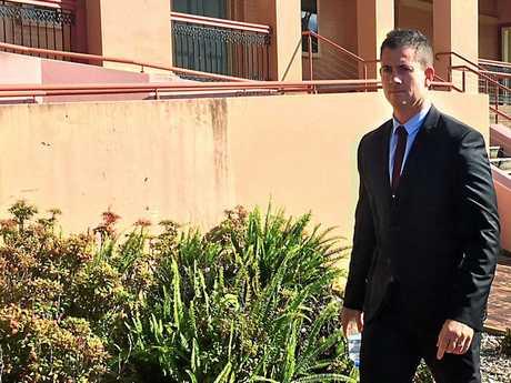 Senior constable Brian Quinn outside court