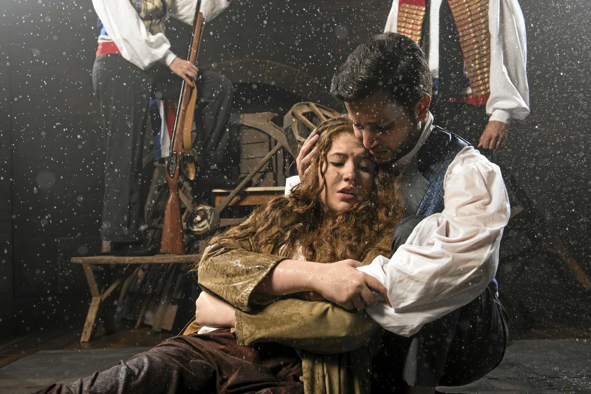Eponine (Trinity March-Hoolihan) and Marius (Jacob Goves)