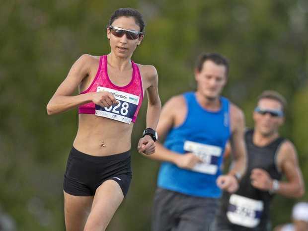 ON THE RUN: Melanie Panayiotou a previous running event at Noosa.
