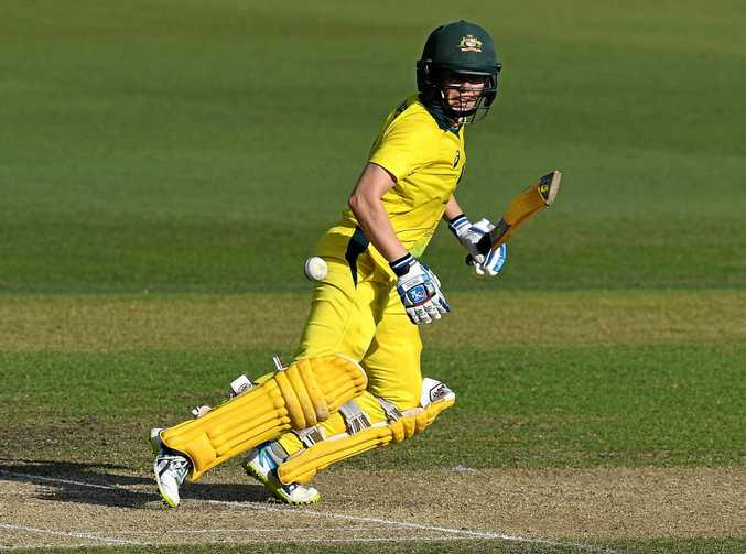 Australia's Alex Blackwell looks on after playing a shot in the Women's Ashes.