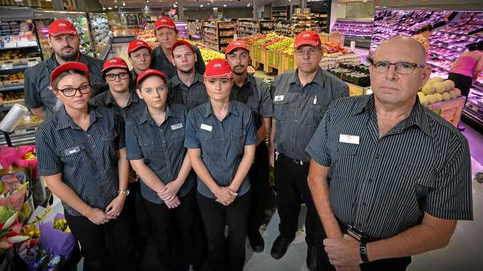 North Buderim IGA owner Ben Crous (right) believes a new Coles across the road will drive him out of business.