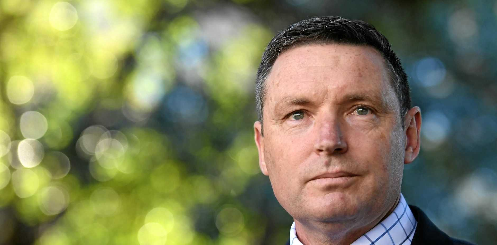 Coalition for Marriage spokesman Lyle Shelton speaks at a press conference in Hyde Park, Sydney, Thursday, September 7, 2017. The High Court has ruled that the same-sex marriage postal vote is lawful and can proceed as planned. (AAP Image/Paul Miller) NO ARCHIVING