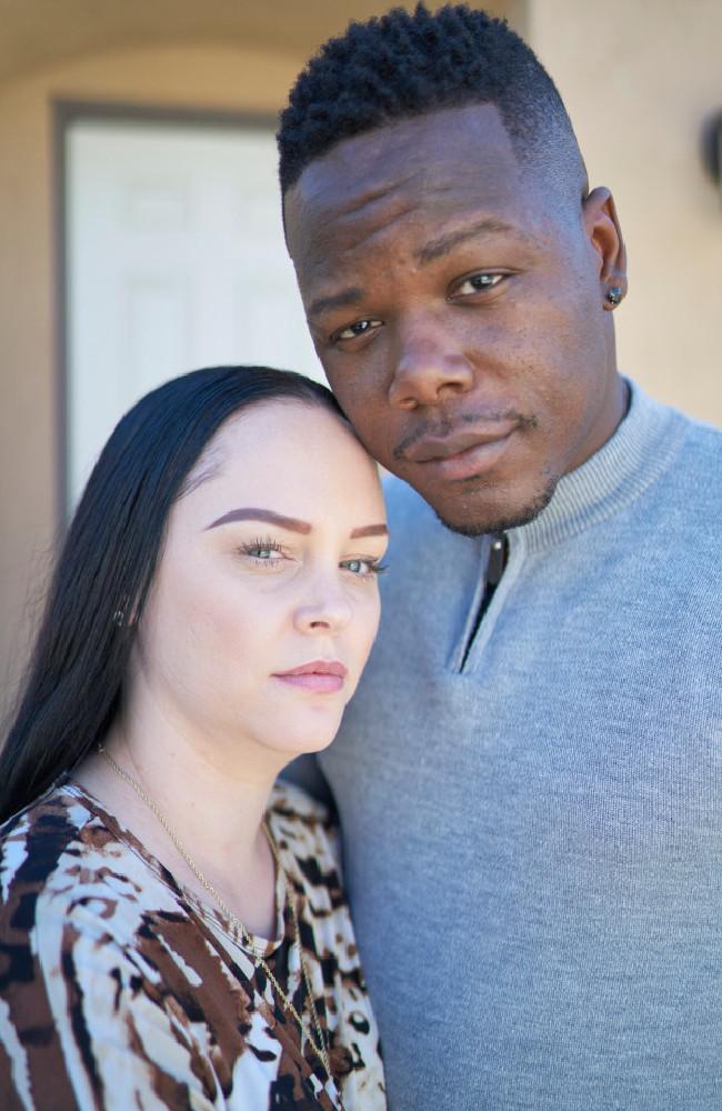 Jessica and her husband, Wardell Jasper. Picture: John Chapple