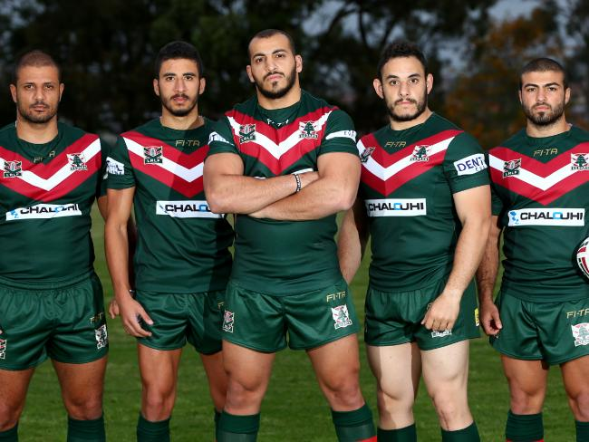 Raymond Sabat (far right) is the only player from Lebanon in the Cedars' 21-man squad. Picture by Damian Shaw