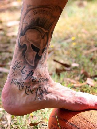 Travis Cloke's ankle tattoo.