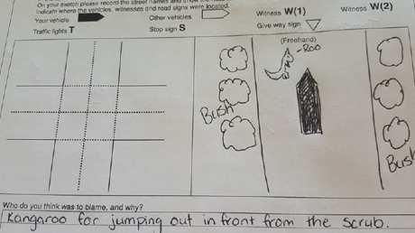 WA mum's car insurance claim sketch. Picture: The Farmers cook WA/Facebook
