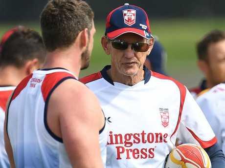 Wayne Bennett during an England training session.
