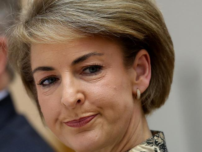 Minister for Employment Senator Michaelia Cash insisted five times during a Senate Estimates session that her office did not leak information about AFP raids to media. Picture: Kym Smith