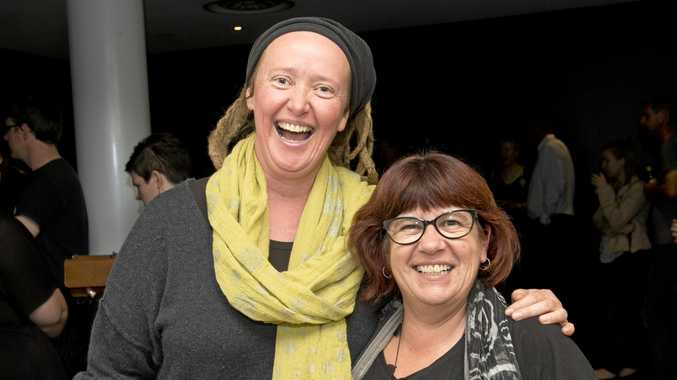 Lynnette Pirie (left) and Sharyn McCarthy are ready for some laughs.