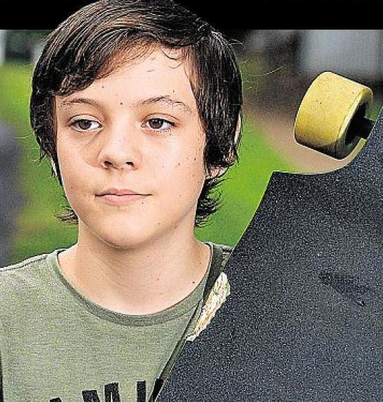 Jacob Roy, who was run off the road while he was on his skateboard by a drink driver in 2014.