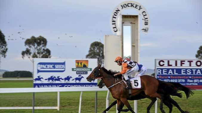GOTCHA: Annihilation (outside) finishes strongly for jockey Vishan Venkaya to edge out Our Clarky in today's Clifton Cup.