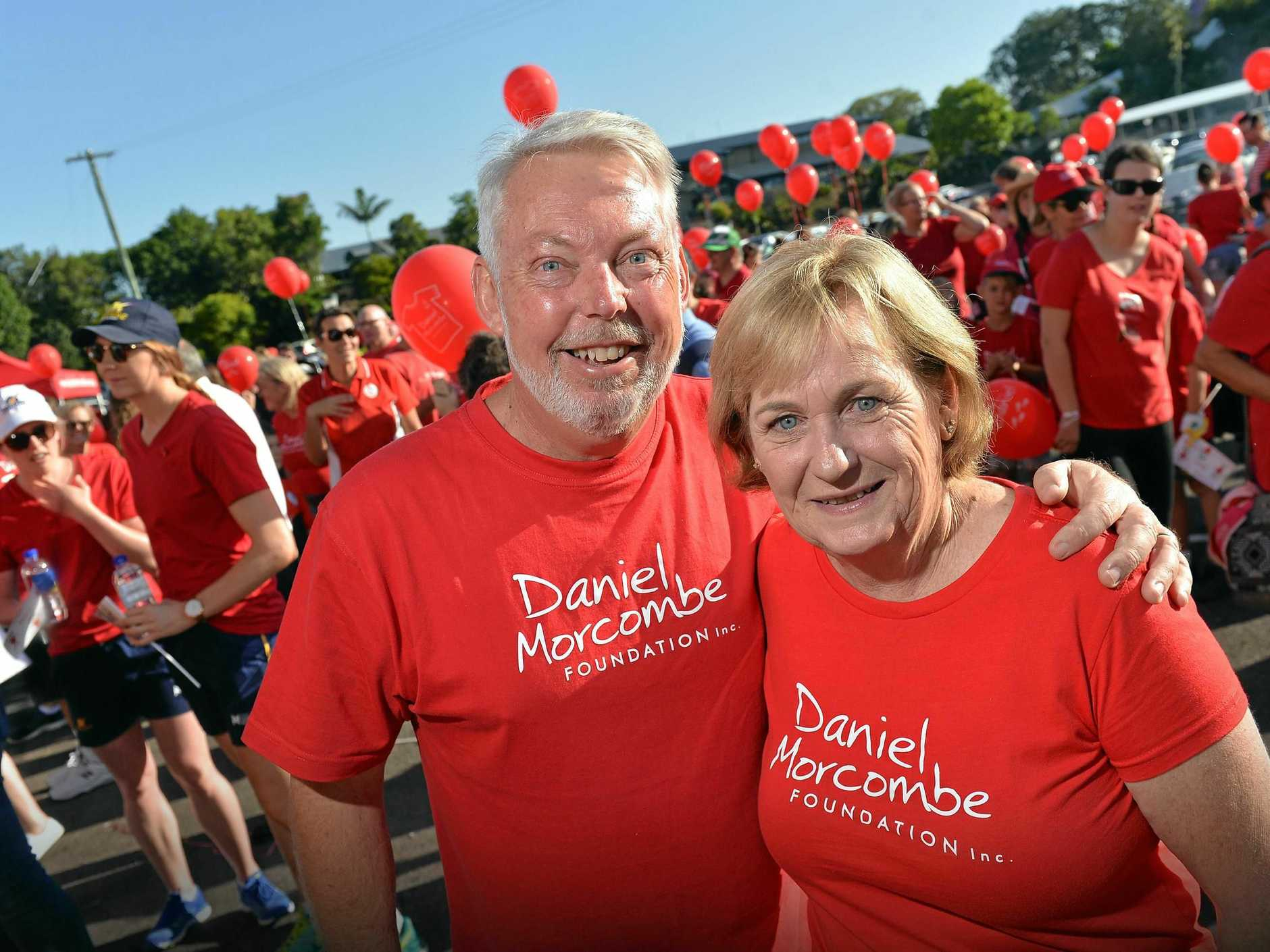 Bruce and Denise Morcombe at the annual Day for Daniel walk held in Palmwoods by the Daniel Morcombe Foundation.